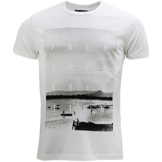 Fcuk White Beach Logo T-Shirt Thumbnail 1