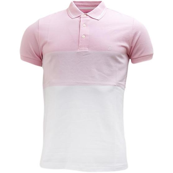 Fcuk Pink Block Pique Polo Shirt Pink Thumbnail 1