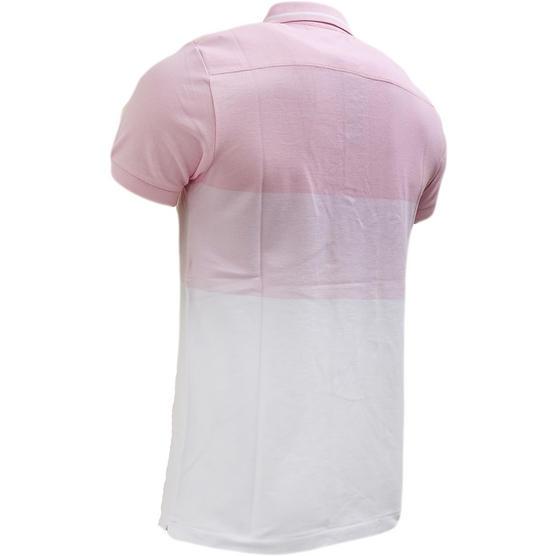 Fcuk Pink Block Pique Polo Shirt Pink Thumbnail 2