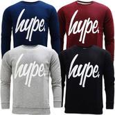 Hype Overhead Crewneck Sweatshirt Jumper - Crewneck Script (S17)