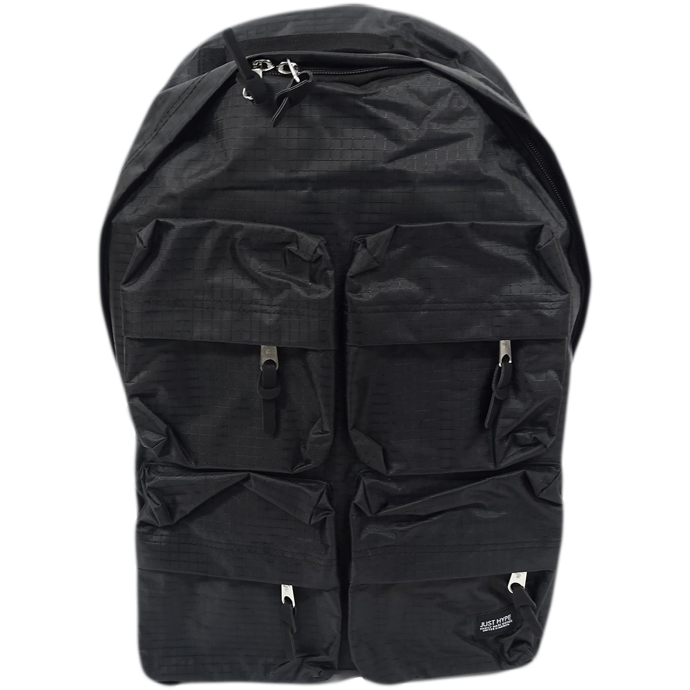 Hype Black 4 Pocket Backpack Bag