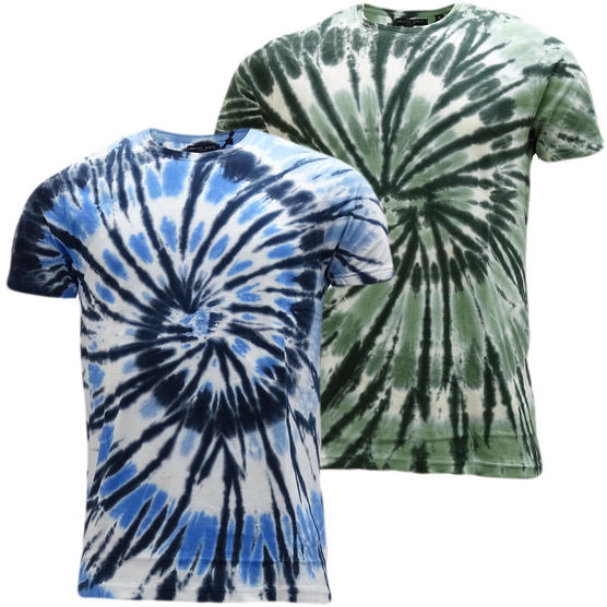 Brave Soul Dye Effect Summer T-Shirt - Jamaica Thumbnail 1