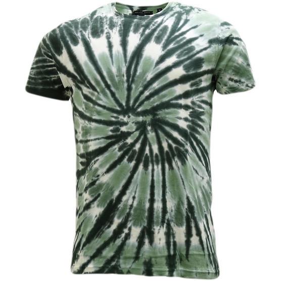 Brave Soul Dye Effect Summer T-Shirt - Jamaica Thumbnail 4