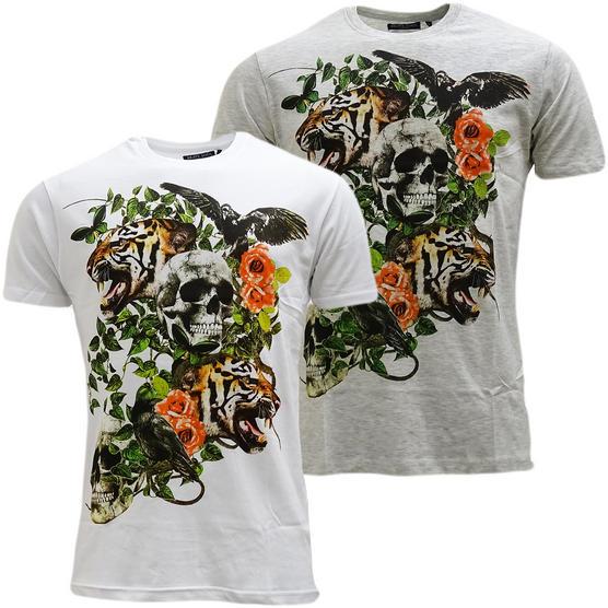 Brave Soul Skull & Lion Lightweight T-Shirt - Inachis Thumbnail 1