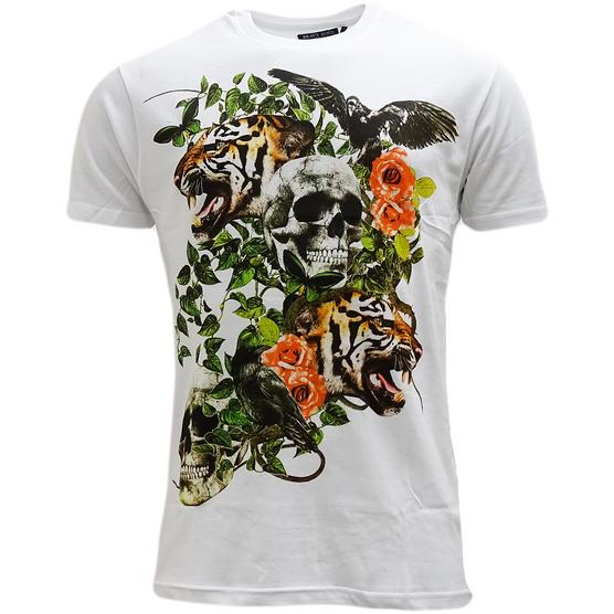 Brave Soul Skull & Lion Lightweight T-Shirt - Inachis Thumbnail 2