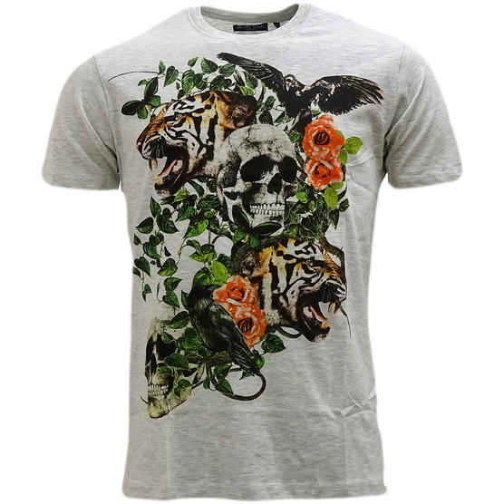 Brave Soul Skull & Lion Lightweight T-Shirt - Inachis Thumbnail 4
