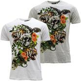Brave Soul Skull & Lion Lightweight T-Shirt - Inachis