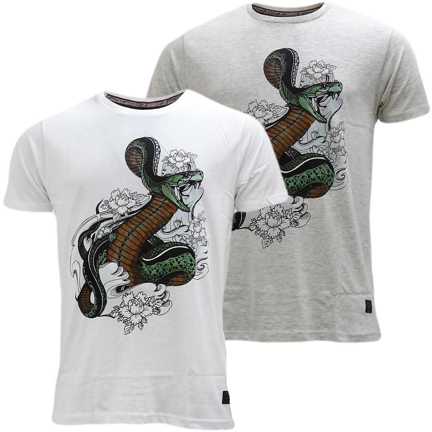 Brave Soul Snake Design T-Shirt - Habu