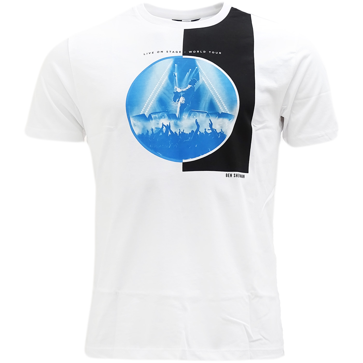Ben Sherman White Live On Stage' Logo T-Shirt