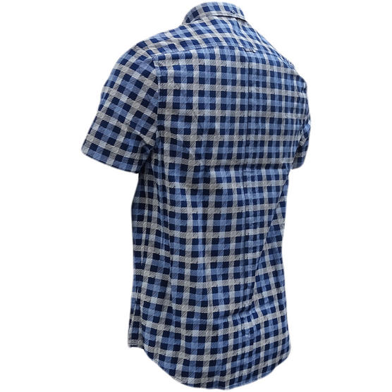 Ben Sherman Navy Button Down Checked Shirt Thumbnail 2