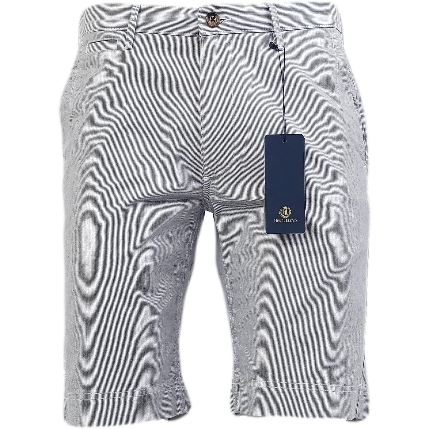 Henri Lloyd Navy Thin Stripe Smart Chino Shorts