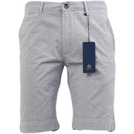 Henri Lloyd Navy Thin Stripe Smart Chino Shorts Thumbnail 1