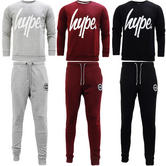 Hype Crest Full Tracksuit With Crewneck Sweatshirt  -