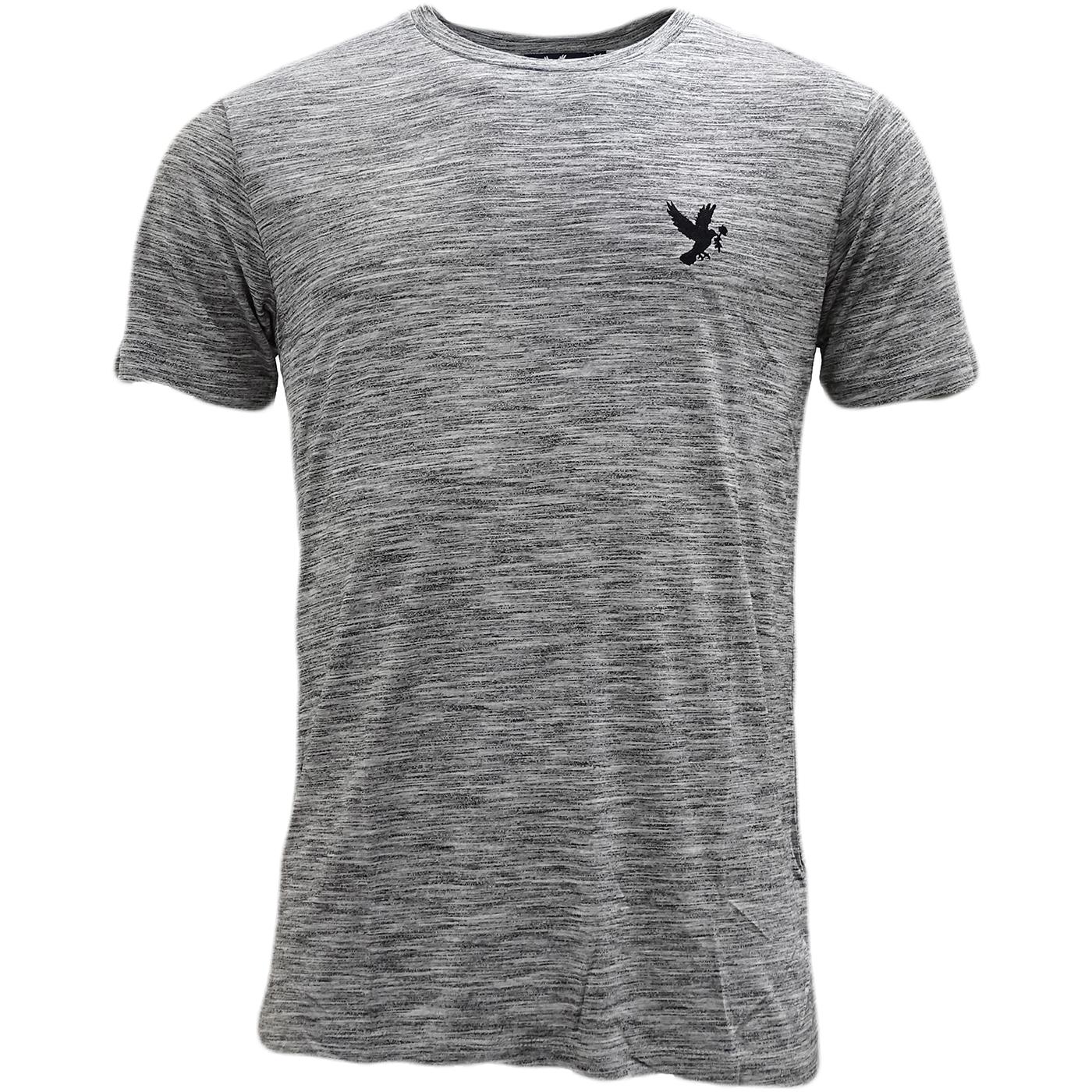 Devote Grey / Black Lightweight Marl Stripe T-Shirt