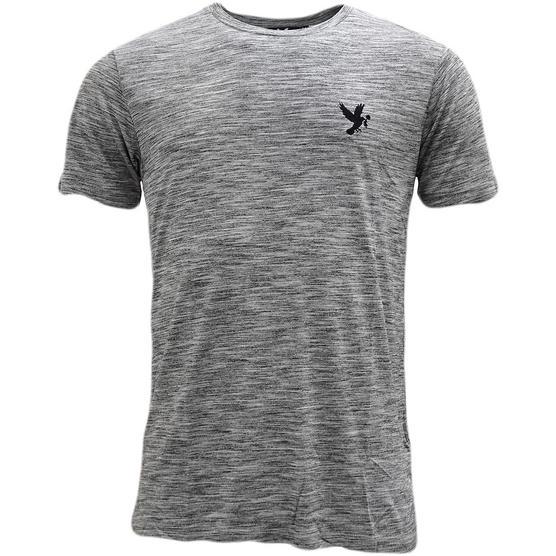 Devote Grey / Black Lightweight Marl Stripe T-Shirt Thumbnail 1