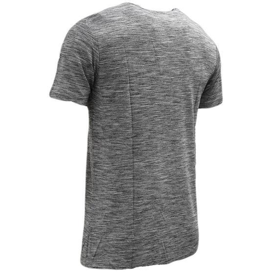 Devote Grey / Black Lightweight Marl Stripe T-Shirt Thumbnail 2