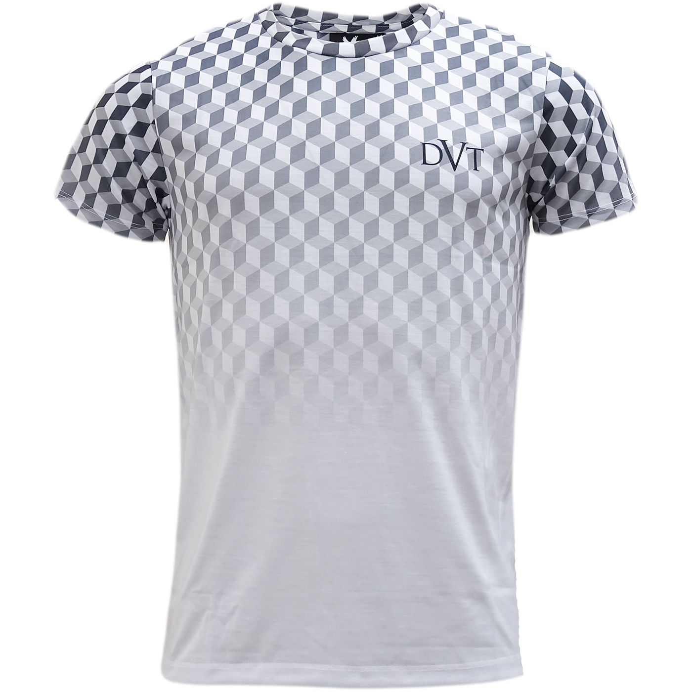 Devote White Black 3d Box Design T Shirt Geometric Ebay