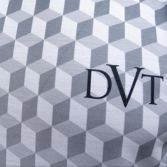 Devote White / Black 3D Box Design T-Shirt Thumbnail 3