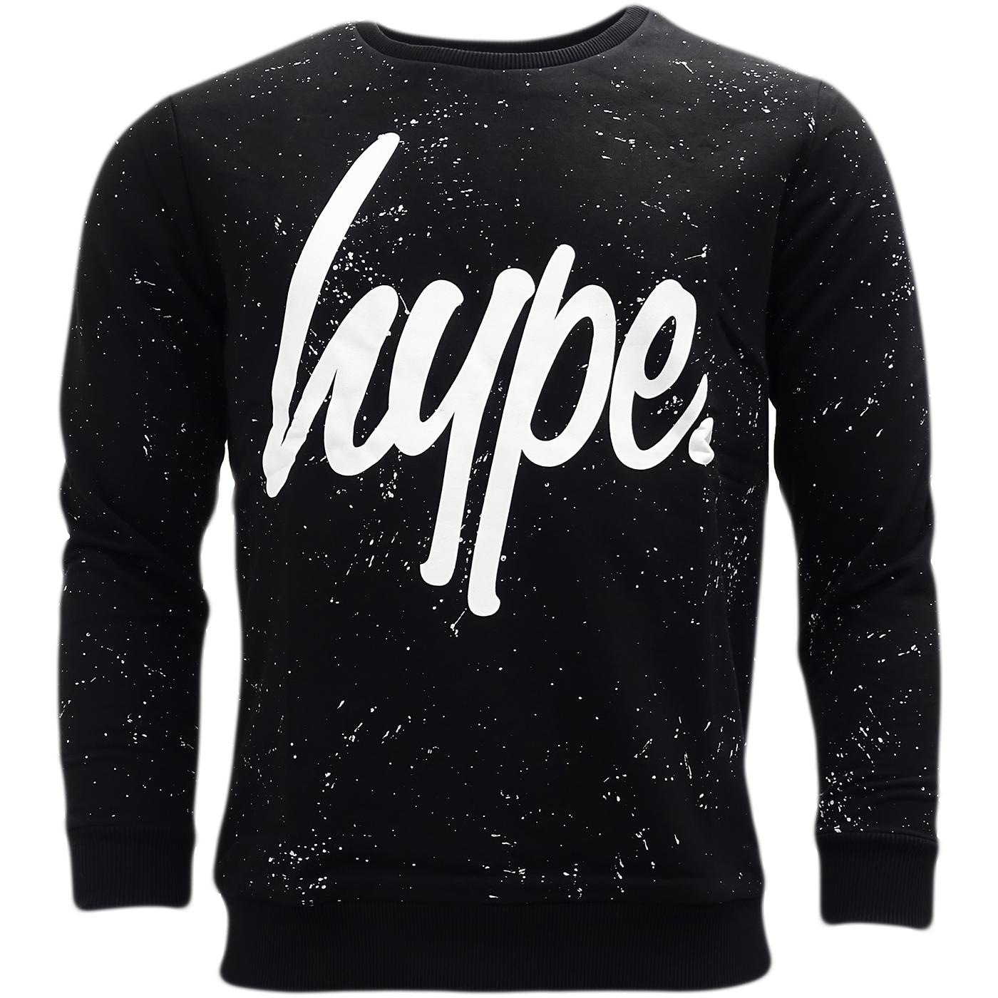 Hype Black All Over Speckle Sweatshirt Jumper