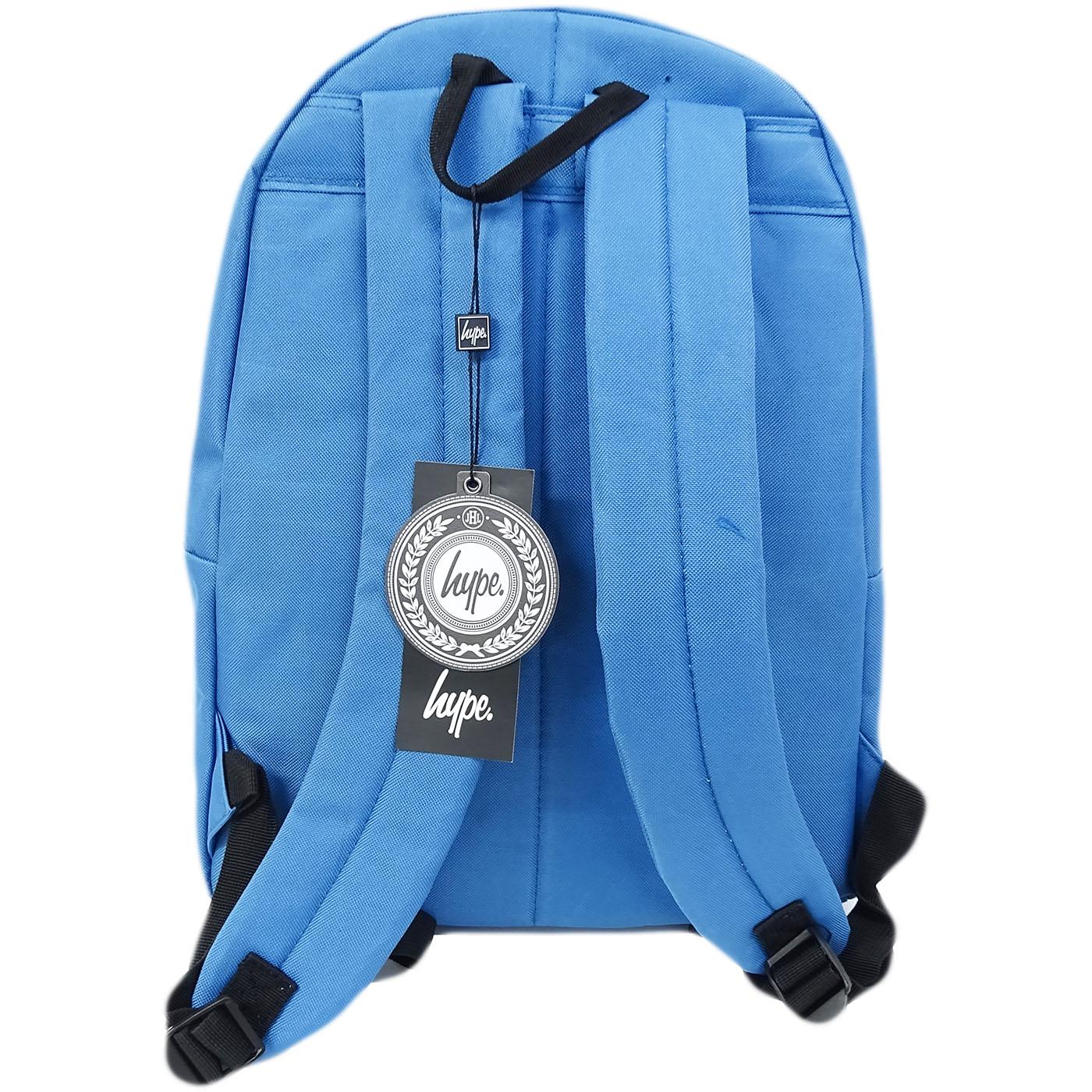 Boys Girls Hype Plain Blue Rucksack Backpack Bag 5056120646630 05779726392a1