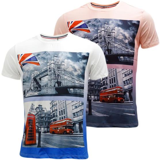 D Rock London Bridge / London Bus T-Shirt - Ldn3 Thumbnail 1
