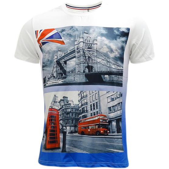 D Rock London Bridge / London Bus T-Shirt - Ldn3 Thumbnail 2