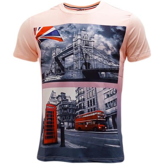 D Rock London Bridge / London Bus T-Shirt - Ldn3 Thumbnail 4