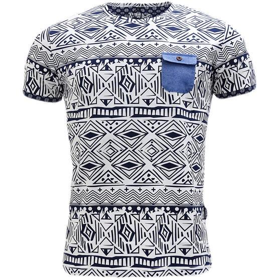 D Rock Aztec / Mod Retro Design T-Shirt - Dr-16-62 Thumbnail 2