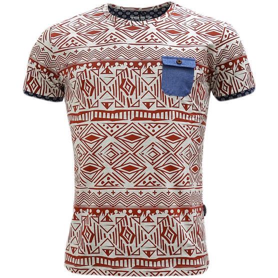 D Rock Aztec / Mod Retro Design T-Shirt - Dr-16-62 Thumbnail 4