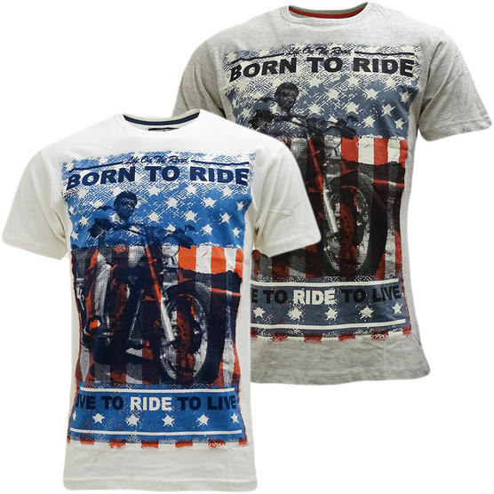 Cargo Born To Ride T-Shirt - Motorbike Thumbnail 1
