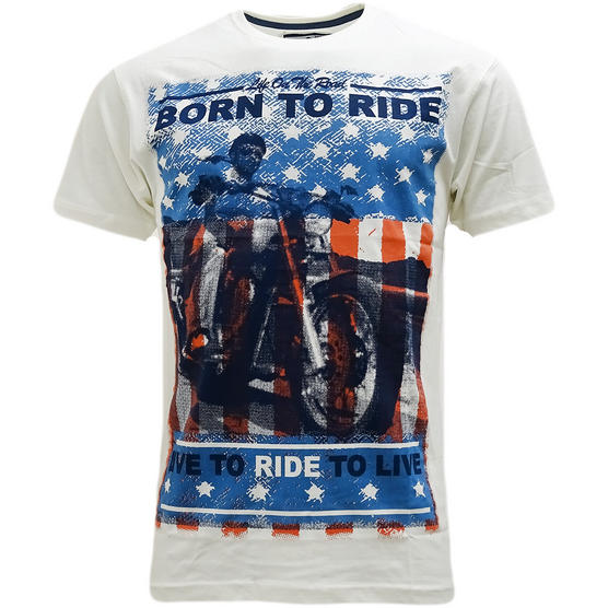 Cargo Born To Ride T-Shirt - Motorbike Thumbnail 3