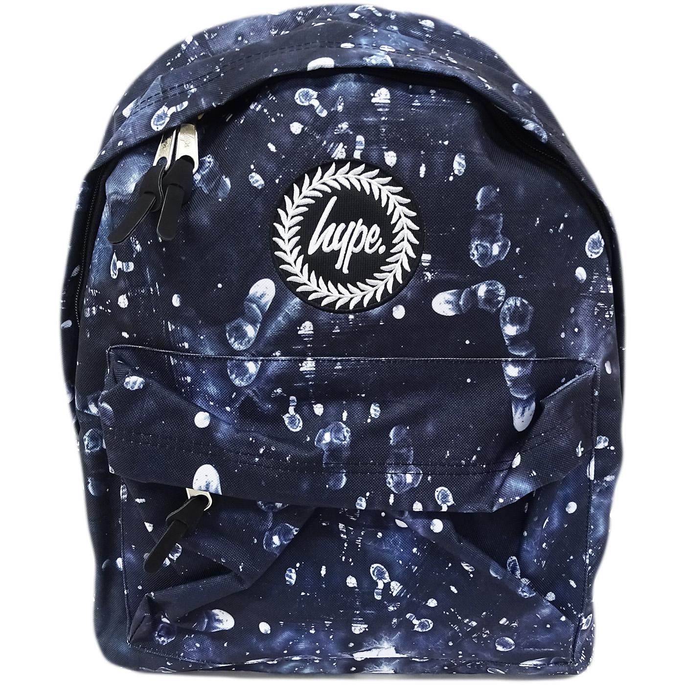 Hype Dark Backpack / All Over Logo Bag - Fingerprint