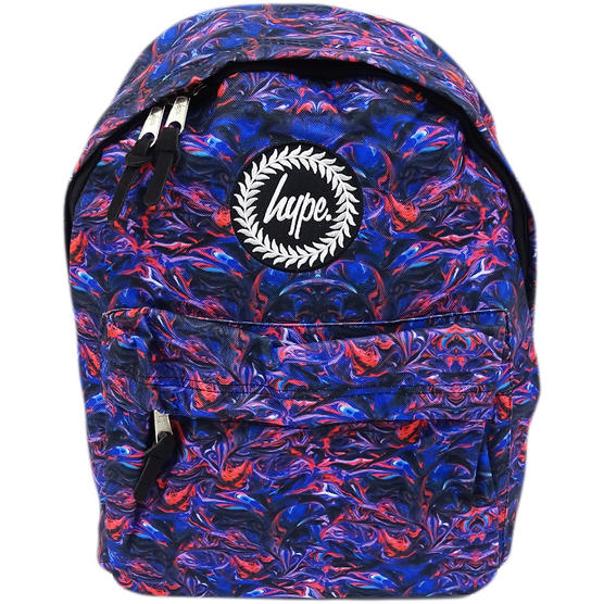 Hype Backpack / Blue And Red Swirl Bag  - Paint Swirls V2 Thumbnail 1