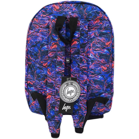 Hype Backpack / Blue And Red Swirl Bag  - Paint Swirls V2 Thumbnail 2