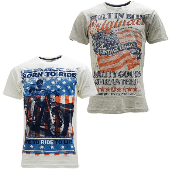 Cargo Pack Of 2 T Shirts / Union Jack / Designer Top - 2 Pack Thumbnail 8