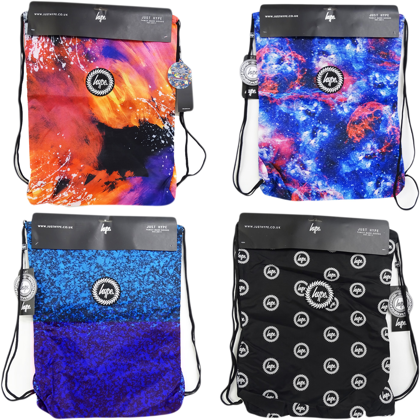 89cd4ce545 Details about Hype Drawstring Bag   All Over Print   Space Graphic Bag -