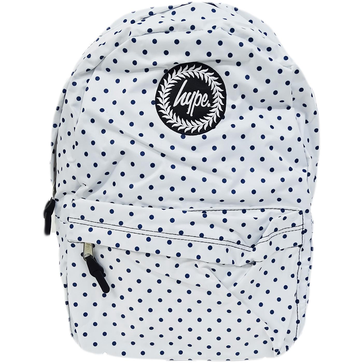 Hype Polka with Navy Bag - Boys / Girls Backpack, Rucksack - Reversible