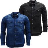 Levi Strauss Western Shirt / Popper Front Denim Shirt  65816