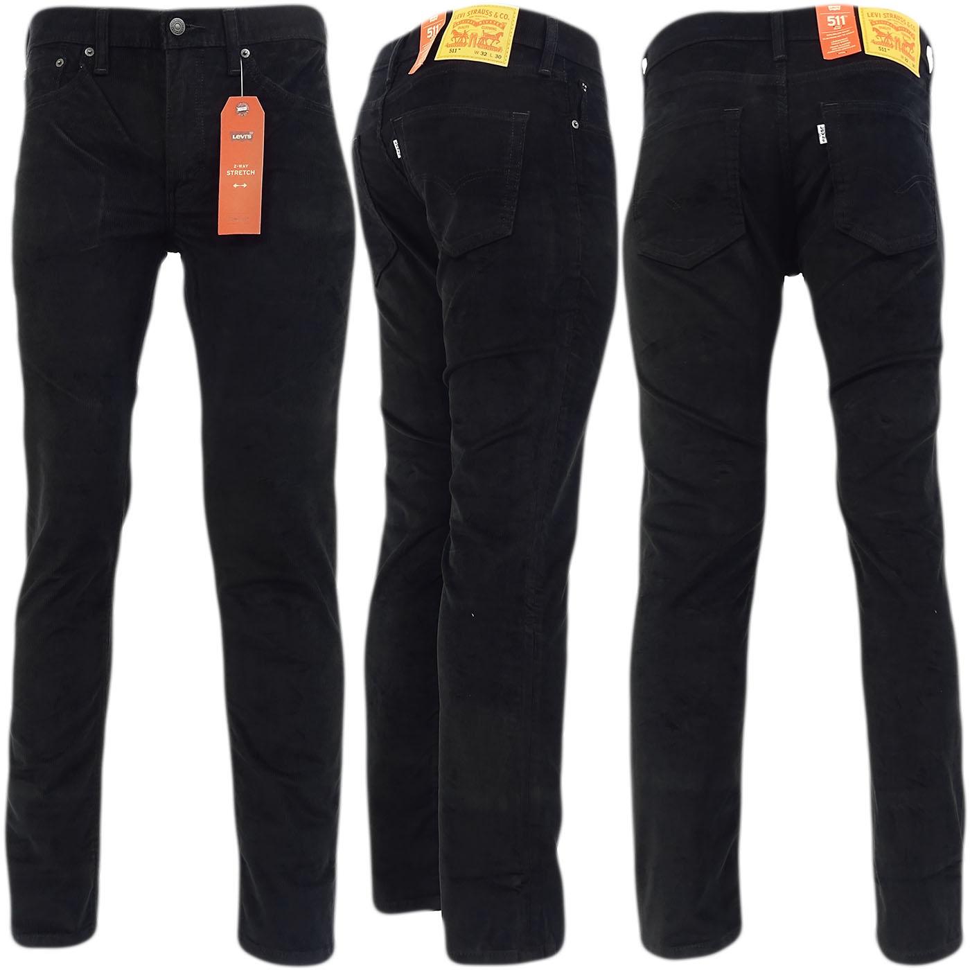 Levi-Strauss-cordon-suave-pantalones-Slim-Fit-pana-negro-20-32