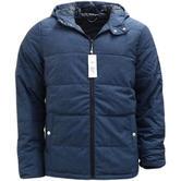 Original Penguin Dark Sapphire Hooded Padded Jacket / Outerwear Coat Opkf7006-406 -
