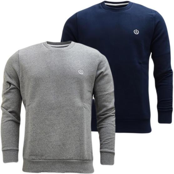 Henri Lloyd Plain Sweatshirt - Soft Cotton Jumper Bredgar Thumbnail 1