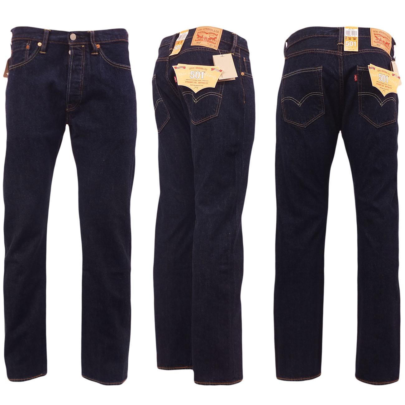 Levi 501 jeans mens original levi 39 s strauss denim straight for Men s shirt sizes explained