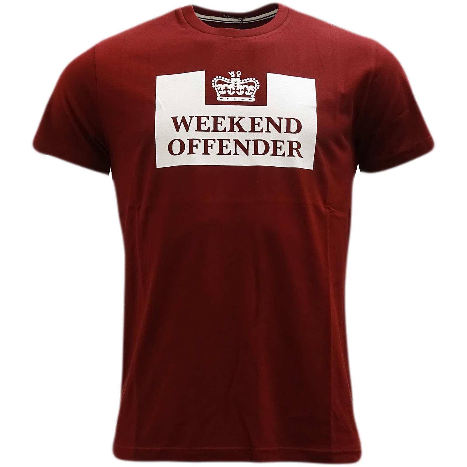 Weekend-Offender-T-Shirt-Prison-Tee-White-Navy-Red