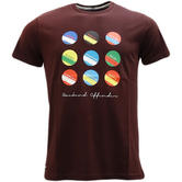 Weekend Offender Location Logo Design T-Shirt Circles And Stripes -