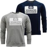 Weekend Offender Lightweight Crew Neck Sweatshirt Jumper Penitentiary