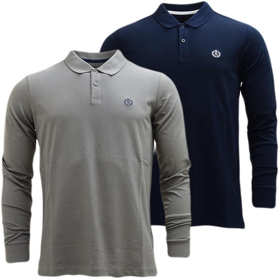 Henri Lloyd Plain Lightweight Long Sleeve Polo Shirt Musburry Thumbnail 1