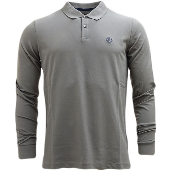 Henri Lloyd Plain Lightweight Long Sleeve Polo Shirt Musburry Thumbnail 2