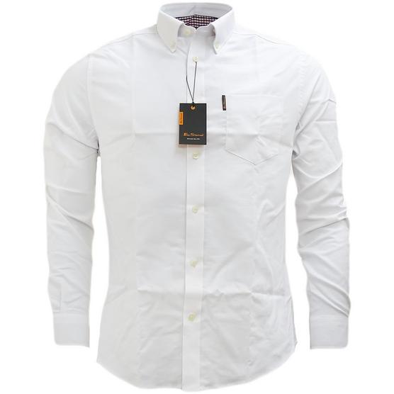 Ben Sherman Plain Oxford With Check Under Cuffs Shirt 48578 Thumbnail 2