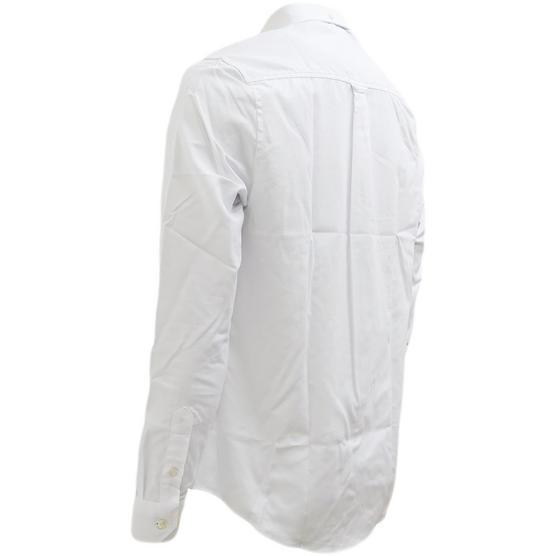 Ben Sherman Plain Oxford With Check Under Cuffs Shirt 48578 Thumbnail 3