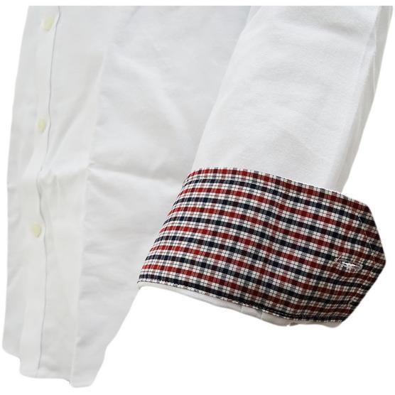 Ben Sherman Plain Oxford With Check Under Cuffs Shirt 48578 Thumbnail 4